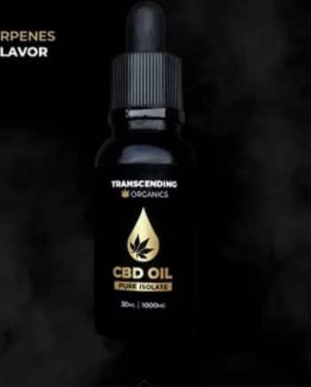 1000mg isolate cbd oil. 30ml bottle of cbd isolate by transcending Organics